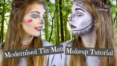 how ti do a senior mans makeover modernised tin man hallowen makeup tutorial 2015 youtube