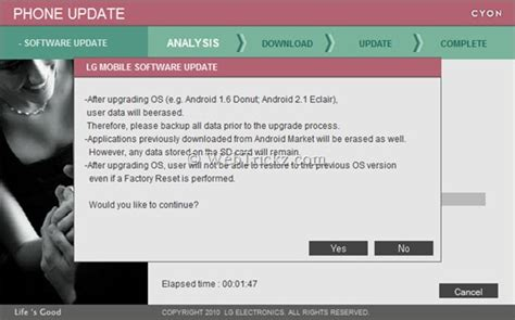 lg mobile software update how to update firmware of lg mobile phones guide basic