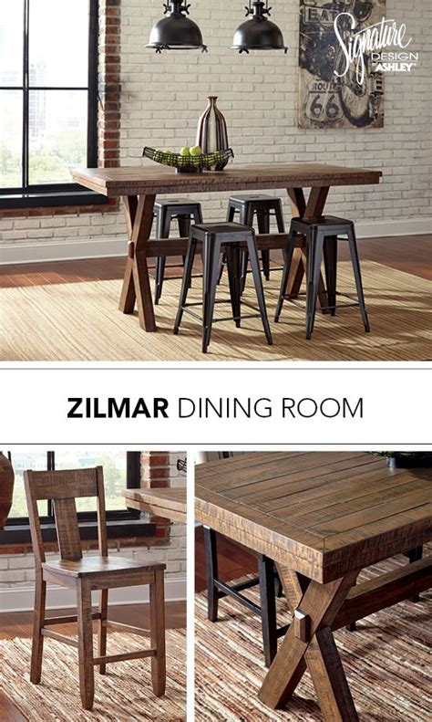 Pinnadel Dining Room Bar Table Zilmar Dining Room Table Bar Stool Pinnadel Metal Bar