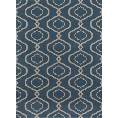 moroccan trellis rug blue ottomanson contemporary moroccan trellis blue 7 ft 10 in x 10 ft 6 in area rug rgl9086 8x10