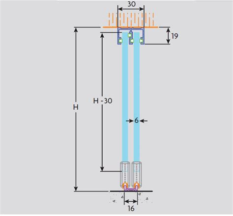 sliding glass tracks cabinet zenith track sliding door gear for 6mm glass