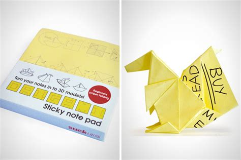 sticky note origami note to self check out these 35 awesome notepads brit co