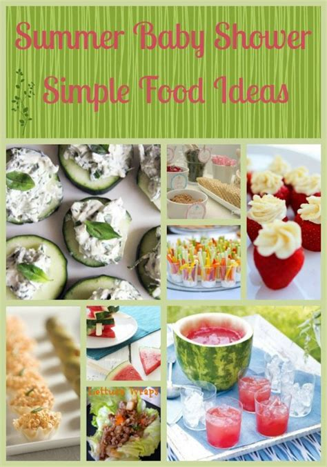 Simple Baby Shower Food Ideas baby shower food ideas design dazzle