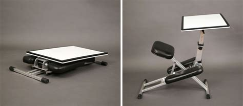 Portable Desk And Chair Combo by This New Desk Is Designed To Be Portable And Pop Up