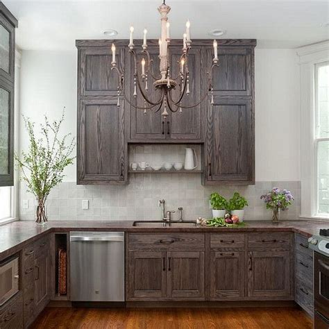 Wood Stain Kitchen Cabinets by Best 25 Gray Stained Cabinets Ideas On Pinterest
