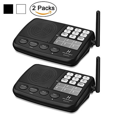 Wireless Intercom System For Home by Hosmart 1500ft Range Wireless Intercom System For