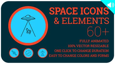 Space Icons And Elements Space After Effects Templates F5 Design Com Bell Icon Intro Template After Effects