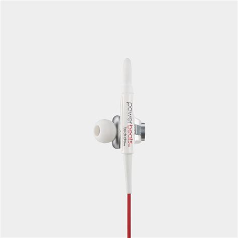 Earphone Powerbeats powerbeats wired in ear headphone white discontinued by manufacturer home audio