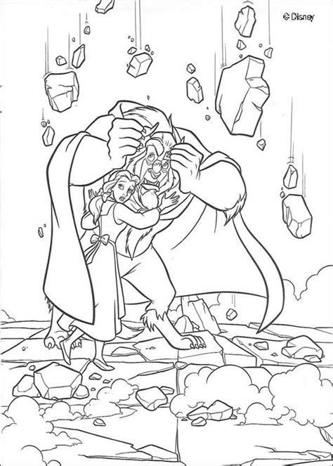 beauty and the beast castle coloring pages castle collapses coloring pages hellokids com