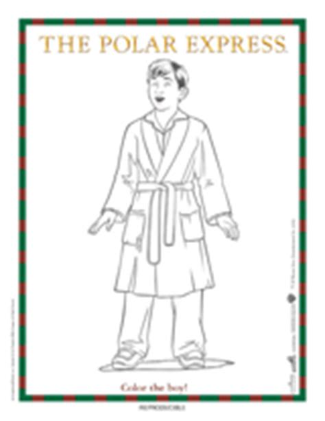 the polar express boy coloring page printable christmas