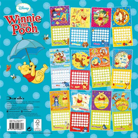 winnie the pooh calendars 2016 on europosters