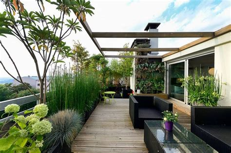 gestaltung dachterrasse dachterrasse dachgarten modern rooftop ideen