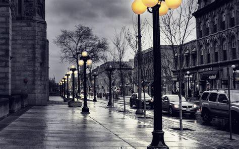 dark blue street  lamps papersco