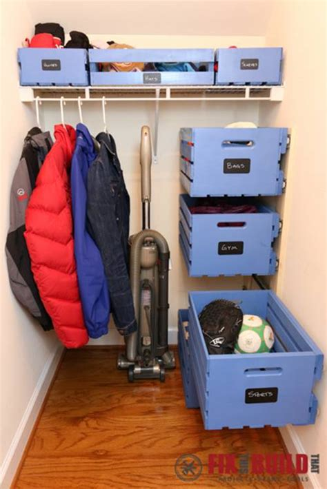 bloombety how to organize your closet with wooden hanger diy pull out wood crate storage to organize your closet diy