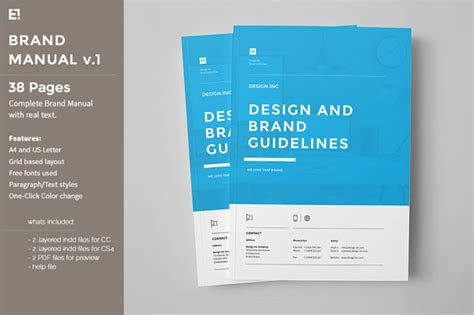 layout user guide brand manual template