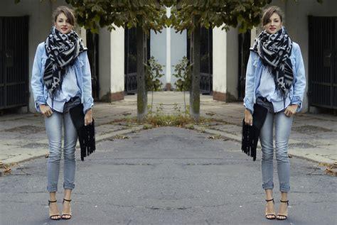 Zara Clutch Scraf ceci bloom h m scarf zara clutch levis jacket h m shirt fringes between seasons lookbook
