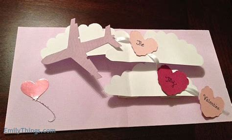 pop up cards how to make pop up card tutorial how to make s day airplane