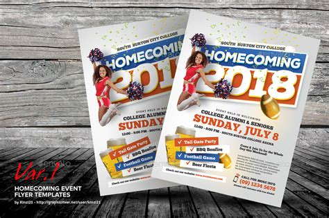 Homecoming Event Flyer Templates By Kinzi21 Graphicriver Homecoming Flyer Template