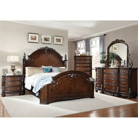 Bevelle 5 Bedroom Set by South Hton Bedroom Bed Dresser Mirror
