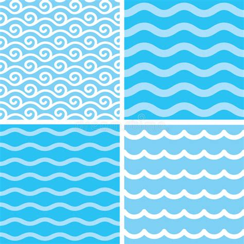 marine stock vector lowe waves seamless wave patterns stock vector illustration of