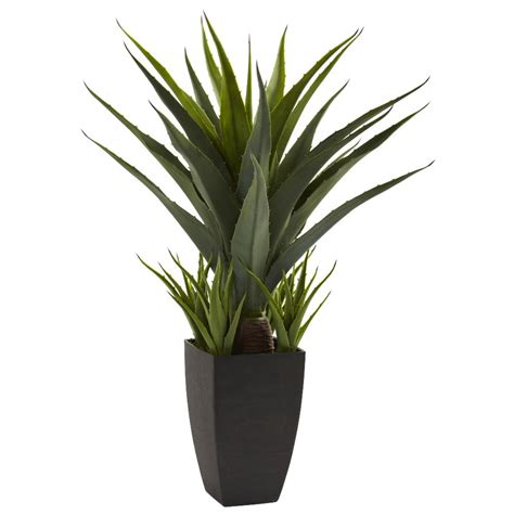 silk plants agave silk plant with black planter artificial plants
