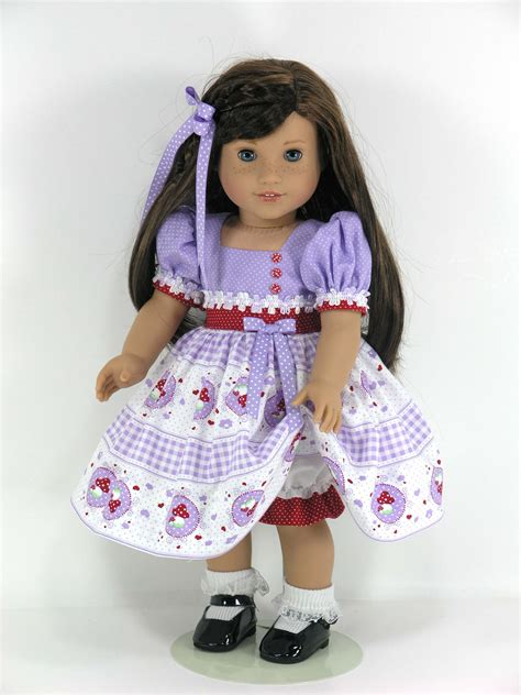 handmade doll clothes for 18 inch american dress