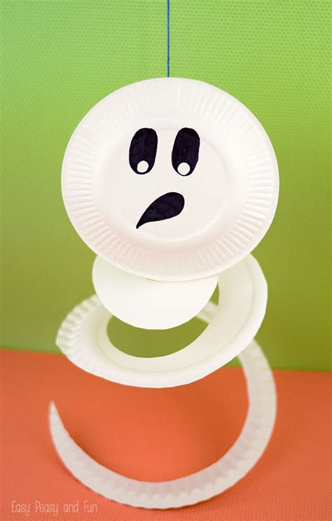 Paper Plate Ghost Craft - paper plate ghost paper plate crafts for easy