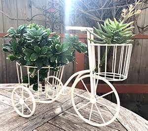Bicycle Home Decor Nostalgic White Bicycle Bike Home Decor Plant Stand 12x16 Quot Garden Lawn Garden Gardening Stands