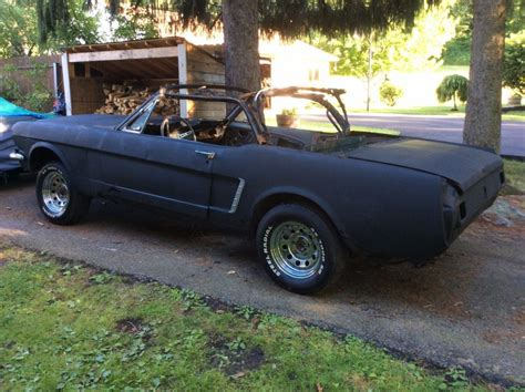 1965 mustang convertible project for sale common rust 1965 ford mustang convertible poject for sale