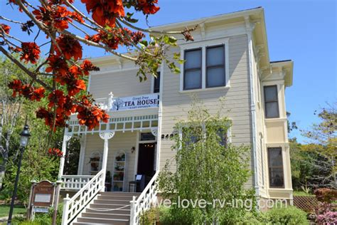 coral tree tea house we love rv ing heritage park victorian village whaley house san diego ca