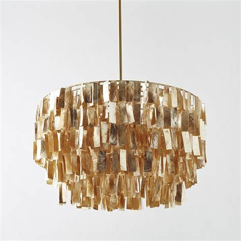Gold Capiz Chandelier West Elm Capiz Chandelier Interiors