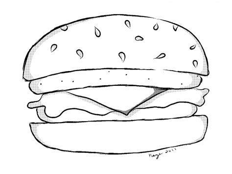 cheeseburger coloring pages grig3 org