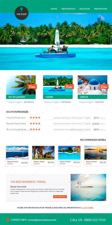 travel newsletter templates travel e newsletter template by karine design graphicriver