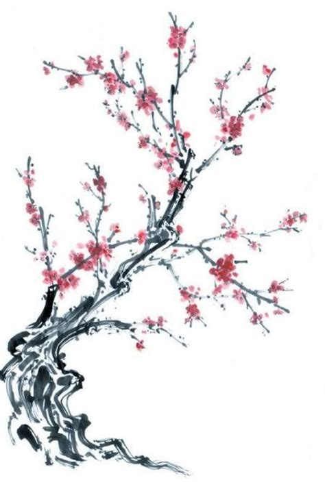 cherry bloosom tree cherry blossom tree chinese draw buscar con google