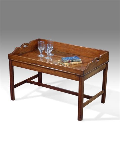antique coffee table tray on stand 18th century