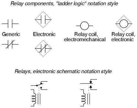 switches electrically actuated relays circuit