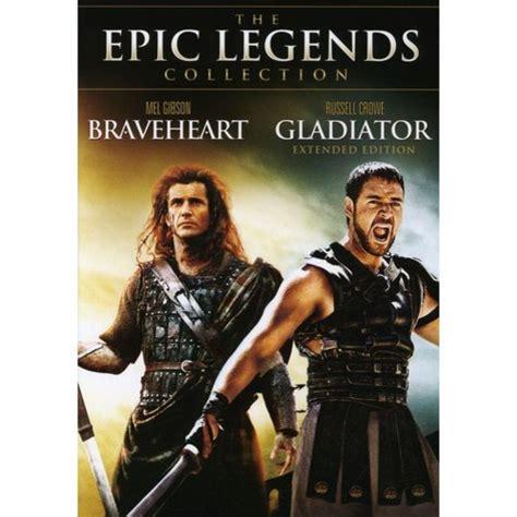 gladiator film track the epic legends collection braveheart gladiator