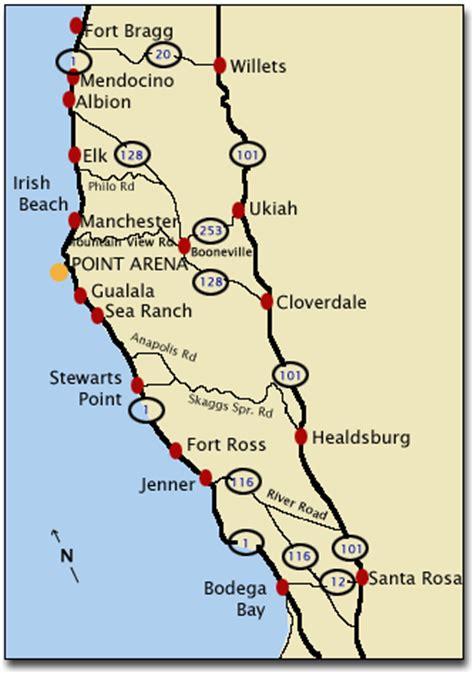 california map northern coast map northern california coast california map