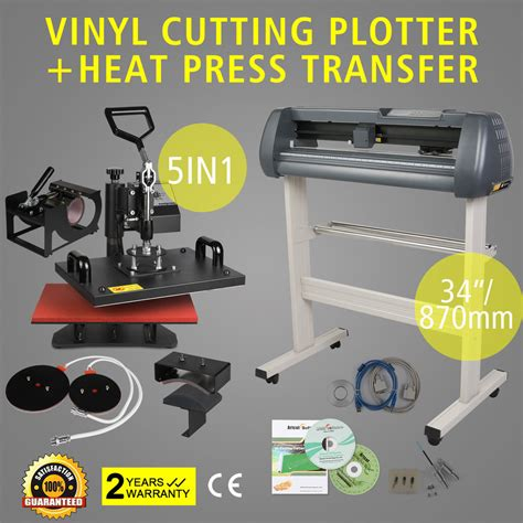 how to print on printable heat transfer vinyl 5in1 heat press transfer kit 34 quot vinyl cutting plotter
