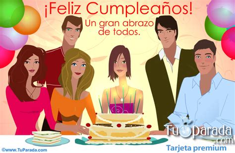 imagenes de cumpleaños mujer tarjeta de cumplea 241 os de grupo para mujer cumplea 241 os