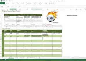 Soccer Lineup Template by Soccer Roster Free Excel Template Excel Templates For