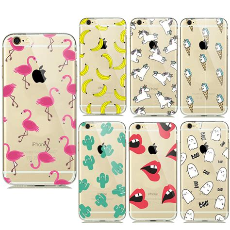 Softcase Iphone Small Polka Iphone 66plus Iphone 77plus new summer fruit banana unicorn transparent silicone soft