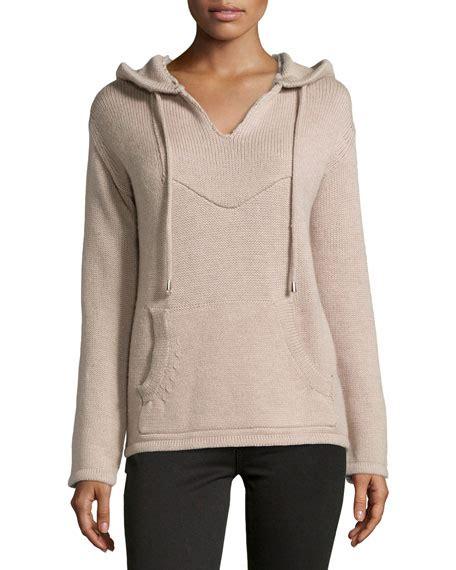 Hooded Drawstring Sweater haute hippie drawstring hooded wool sweater