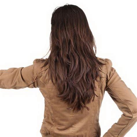 v cut layered hair layered v haircut