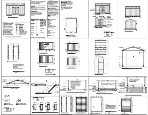12x16 storage shed plans how to build diy by