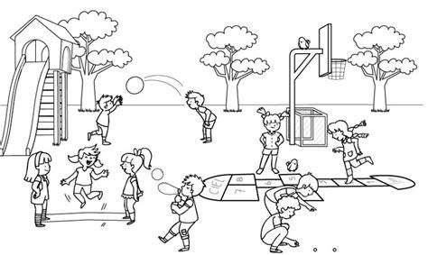 imagenes de niños jugando para imprimir imprimir ni 241 os en el recreo dibujo para colorear e imprimir
