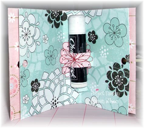 Lip Balm Card Holder Template by My L Il Crafty Corner Layouts Photo S And More