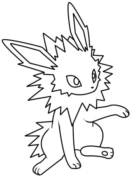 pokemon coloring pages jolteon pokemon jolteon coloring pages sketch coloring page