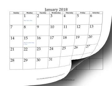 printable 2018 calendar (12 pages)