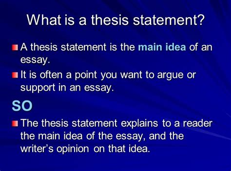 define thesis statement in literature book units